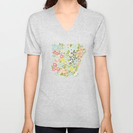Arkansas Florals Unisex V-Neck