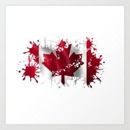 Canadian Splatter Art Print
