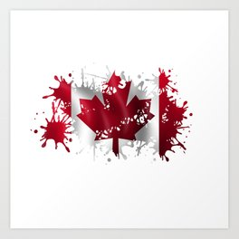 Canadian Splatter Art Print