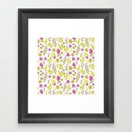 Fresh flower dream Framed Art Print