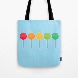 Rainbow lollypops Tote Bag