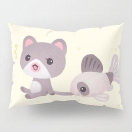 Cat and catfish Pillow Sham