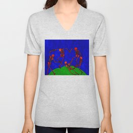 Red Dance, after Matisse Unisex V-Neck