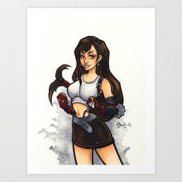 Tifa Lockhart Art Print