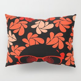 Afro Diva : Coral Red Pillow Sham