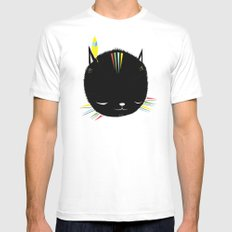 MIGHTY TIGARRR, BLACK KITTEN 묘 Mens Fitted Tee MEDIUM White