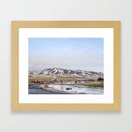 Morning view Framed Art Print