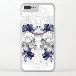 SKULLS & IRIS Clear iPhone Case