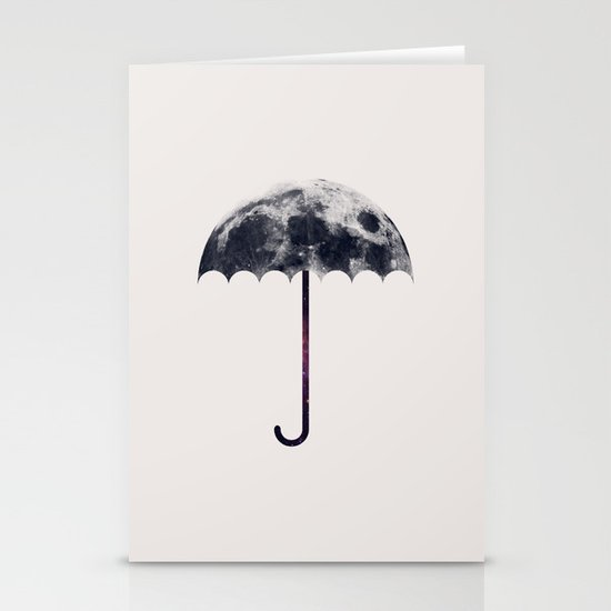 Space Umbrella II Stationery Cards
