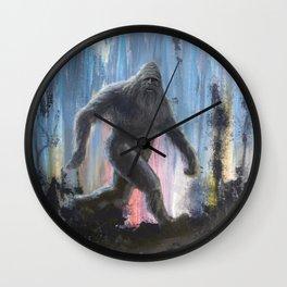 Bigfoot at Twilight Wall Clock