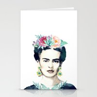frida kahlo Stationery Cards featuring Frida Kahlo  by South Pacific Prints