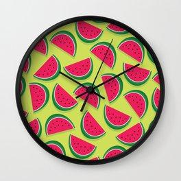 Juicy Watermelon Slices Wall Clock