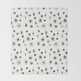 dorstenia mania color Throw Blanket