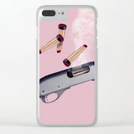 LIPSTICK GUN Clear iPhone Case