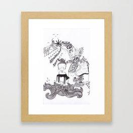 styrian childlhood  Framed Art Print