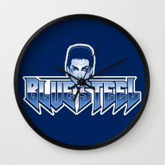 Blue Steel Wall Clock