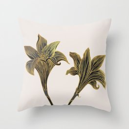Indian Lily Daffodil Throw Pillow