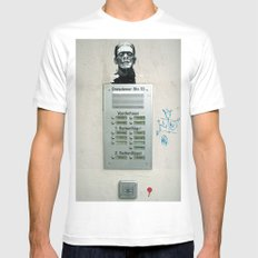 franky White MEDIUM Mens Fitted Tee