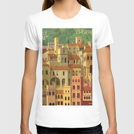 Medieval city T-shirt