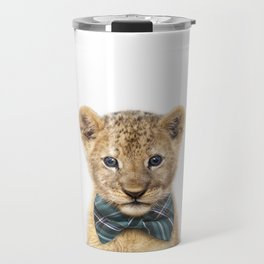 Baby Lion With Bow Tie, Baby Animals Art Print By Synplus Travel Mug