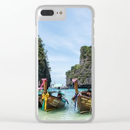 Colorful Tour Boats Phuket Thailand Clear iPhone Case