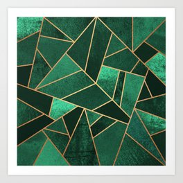Emerald and Copper Art Print
