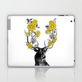 The Stag and Roses   Yellow Laptop & iPad Skin