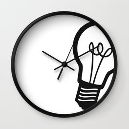 Simple Light Bulb Wall Clock