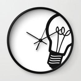 Simple Light Bulb Wall Clock