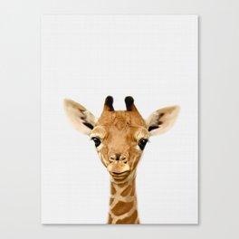 Giraffe Print, Safari Nursery Animal Wall Art Canvas Print