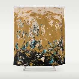 16 x 20 yellow-buff-black-etc Shower Curtain