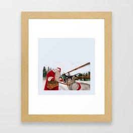 Christmas, Navidad, Noel, Moose Framed Art Print