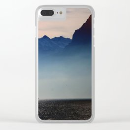 Swiss Lake Clear iPhone Case