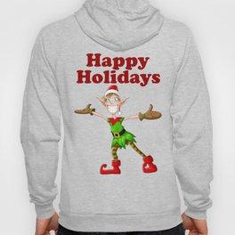 Christmas Elf Happy Holidays Hoody