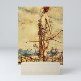 Bare chested archer Mini Art Print
