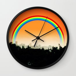 Miami Sunset Wall Clock