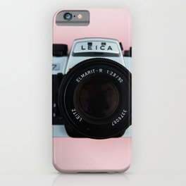 Camera on Blush Pink Background iPhone Case
