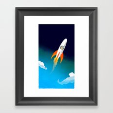 Rocket to the stars! Framed Art Print