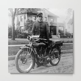 Grandpa's Cyclone Motorcycle Metal Print
