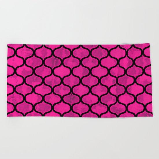 Watercolor Lovely Pattern VVIX Beach Towel