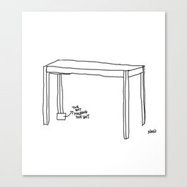 crooked table Canvas Print