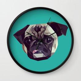 "Pug Graphic Design. ""Bijou"" Wall Clock"