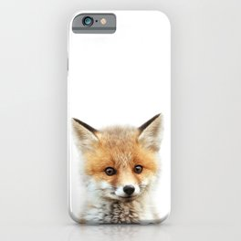Baby Fox, Baby Animals Art Print By Synplus iPhone Case