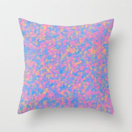 splashed colors Throw Pillow