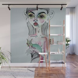 Sister with Siamese Wall Mural