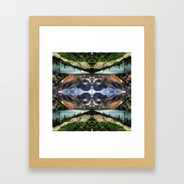 Diamond in the sky Framed Art Print