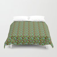 hiking Duvet Covers featuring Hiking Tune by Bob Greenwade