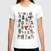 pugs T-shirts featuring Pugs by Yuliya