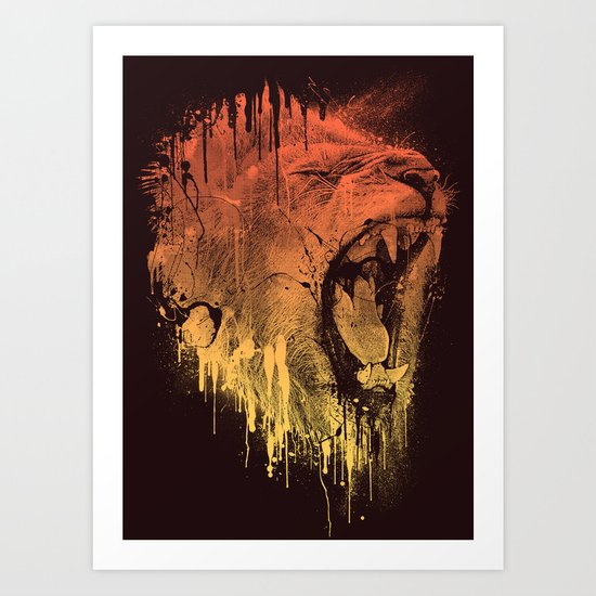 FIERCE LION Art Print