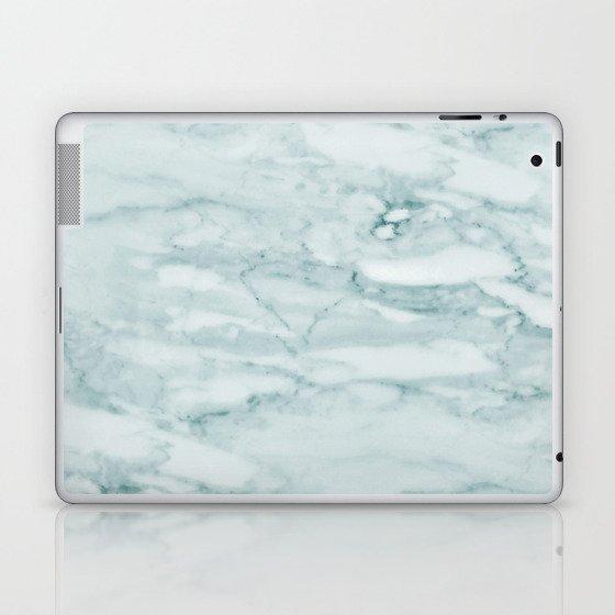 Marble Pale Teal Sea Green Marble Laptop & iPad Skin